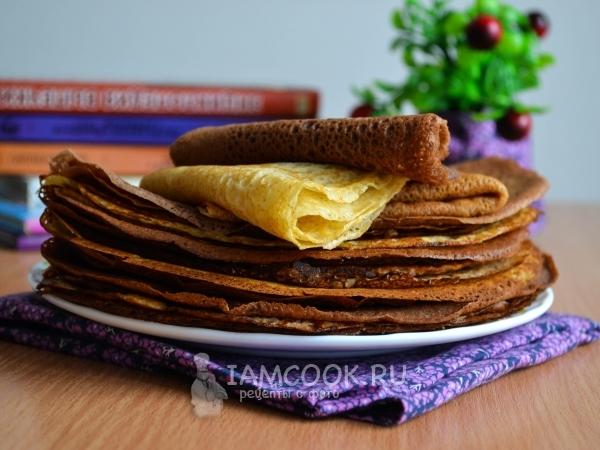 Pancake Dibuat Daripada Adunan Dengan Susu Dan Telur