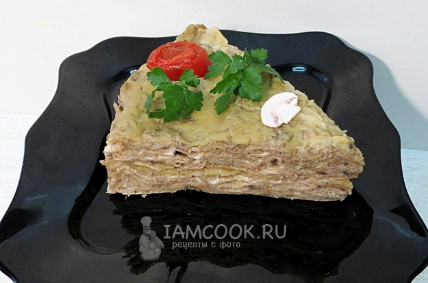 기성품 lavash cake with mushrooms